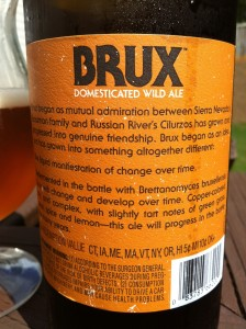 BRUX rear label