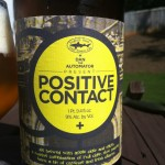 Beer Review: Dogfish Head, Positive Contact