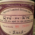 Beer Review: Boulevard Brewing Company, Rye-On-Rye 2012